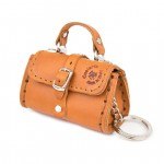 Leather Key Chains Duffel Bag shaped【La Cuoieria】 70238