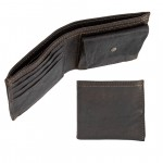 Leather Horizontal Bifold Wallet with Change Pocket by Campomaggi C0178920ND