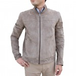 Men's Reversible Suede Classic Jacket with band collar AB445-NA
