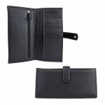 Leather Vertical Wallet with Card slots for Unisex Made in Italy 626-BU