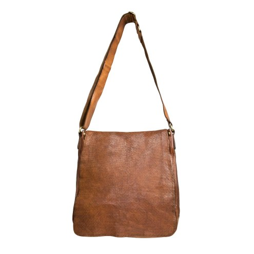 aliexpress große Auswahl Modestil Leather Shoulder Crossbody Bag with Flapover - Esagono by Campomaggi
