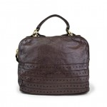 Leather Bowler style Bag Laser motif for Women by Campomaggi C016710ND