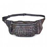 Leather Waist pack Crossbody Bag in Weave by Campomaggi C017500ND