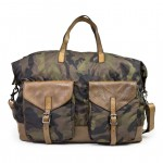 Leather and Nylon large Camouflage Tote Bag by Campomaggi C020390ND