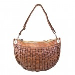 Leather Small Weaved Shoulder Bag for Women by Campomaggi C021300ND