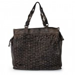 Leather Shopper Tote Bag Weaved motif for Women by Campomaggi C021340ND