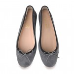 Ballet Flat Shoes with Round Toe - Nicole SP-NICOLE-SPC10-BLACK TRIM