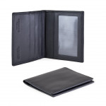 Leather Card Holder with Transparent Window Made in Tuscany GI711-NA