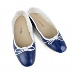 Porselli Ballet Flat - Blue Navy with White Trim PO-DS-31-10
