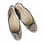Porselli Ballet Flat - Leopard suede with Black Trim PO-DS-C18-02