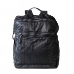 Leather Backpack in black made by hand - Campomaggi C023460ND