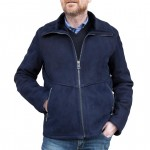 Shearling Racer Leather Jacket, Made in Italy AB416-SH