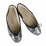 Porselli Ballet Flat - Gunmetal Black Trim PO-DS-53-02