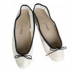 Porselli Ballet Flat - Bone Black Trim PO-DS-30-02