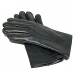 Leather Gloves Lined in Wool Made in Italy 1509R-LA