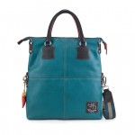 Leather Shopper Bag in Limited Edition - Emerald 4853-PE-Emerald