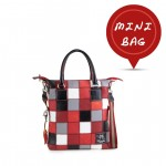 Mini Me Bag Leather Patchwork Tote Collection - Shades of Red 4851-PW5