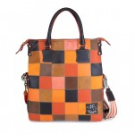 Fortunata Borsa Shopper in pelle con tracolla - Toni dell'arancio 4853-PW orange