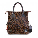 Fortunata Borsa Shopper in pelle Cavallino Leopard 4853-SP Leo