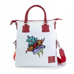 Leather Shopping Bag with should strap - Fire Tattoo - Doodle 4853-DO FireTattoo