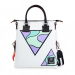 Leather Shopping Bag with shoulder strap - Doodle 4853-DO Triangoli