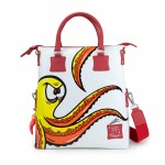 Leather Shopping Bag with shoulder - Doodle Collection 4853-DO Piovra