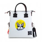 Leather bag with shoulder strap Hand painted French Bulldog - Doodle Collection 4853-DO FrenchBulldog
