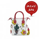 Mini Borsa in pelle dipinta a mano con tracolla Doodle Collection - Cactus 4851-DO Cactus