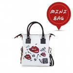 Leather Mini Bag, Hand Painted Kiss - Doodle 4851-DO Lips