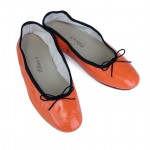 Porselli Ballet Flat - Orange with Black Trim PO-DS-24-02
