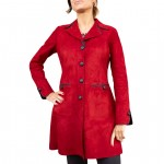 Cappotto da donna in pelle double-face, fatto a mano AB453-NA