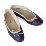 Porselli Ballet Flat - Dark Purple with pink trim PO-DS-05-12