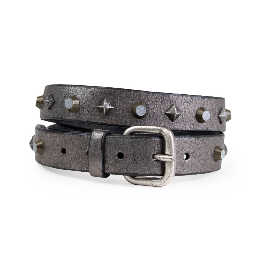 Soft Shell Clam Leather Belt