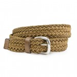 Braided Yellow Cord Belt Made in Florence AM09-G
