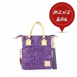 Mini Me Bag Leather Solid Color Tote - Purple 4851-PE_Purple