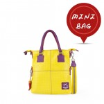 Small Handbag - Leather Tote Bag in Yellow 4851-PE_Yellow