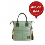 Small Tote Leather Bag in Light Green 4851-PE_Green