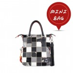 Mini Me Leather Patchwork Tote Collection - Grey 4851-PW_Grey
