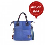 Mini Me Bag Leather Solid Color Tote - Cobalt 4851-SP_Cobalt