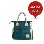 Women's Small Tote Leather Bag in Dark Green 4851-SP_Dark_green