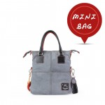 Women's Small Tote Leather Bag in Grey 4851-SP_Grey
