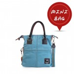 Small Tote Leather Bag - Made in Italy 4851-SP_LightBlue