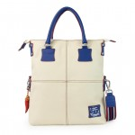 Women's Leather Tote Bag - Handmade in Italy 4853-PE_White_Blue