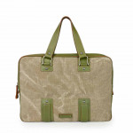Toscanella Leather & Canvas Laptop Bags 1514-TV