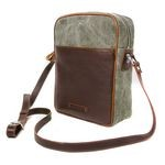 Toscanella Leather & Canvas Messenger Bag for Men 1517-TV