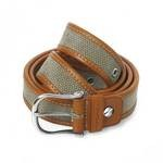 Toscanella Leather and Canvas Belt 16-TV