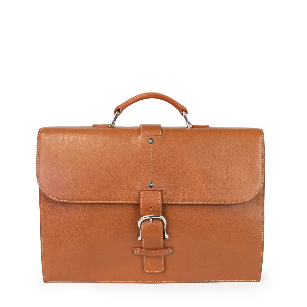 Slim Leather Briefcase from Toscanella