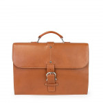 Toscanella Slim Leather Briefcase from Toscanella 1529-VA