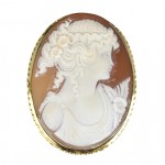Set in 18k yellow gold  Wearable both as a cameo pendant and a cameo brooch COR-45-01-A/07