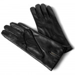 Leather Classic Gloves Lined with Wool for Women Made in Italy 77/3-LA